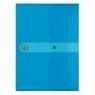 Teczka A4 PP na dokumenty Easy Orga Niebieska transparentna