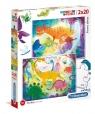 Puzzle 2 x 20: Supercolor, Funny Dinos