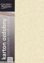Papier ozdobny (wizytówkowy) LIŚCIE KREMOWY 250g .