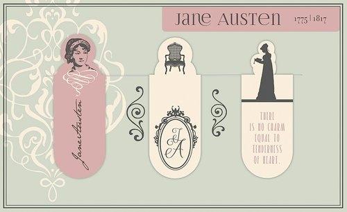 Zakładki Magnetyczne Jane Austen 3 sztuki