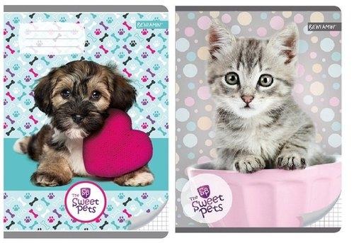 Zeszyt A5 w kratkę 16 kartek The Sweet Pets