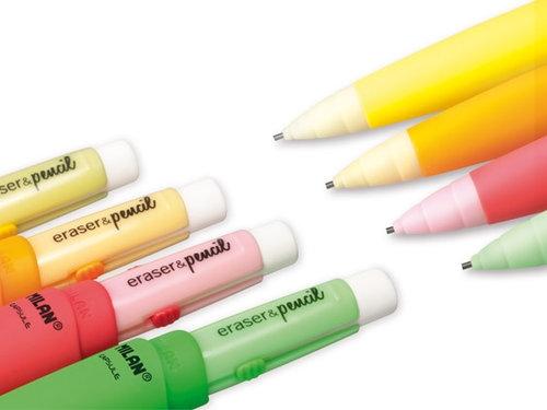 Ołówek Milan mechaniczny eraser & pencil capsule Fluo 20 sztuk