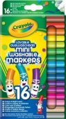 Mini markery zmywalne 16 kolorów CRAYOLA