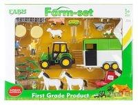 Zestaw farma traktor + przyczepa i zwierzęta hodowlane