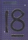 Karnet 18 urodziny niebieski DK-357