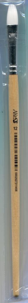 Pędzle nylonowe Niki-4 Koci język nr 12 12 sztuk
