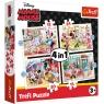 Puzzle 4w1: Minnie Mouse z przyjaciółkami (34355)