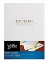Teczka ozdobna Milenium z napisem Dyplom diamentowa biel 5 sztuk (222701)