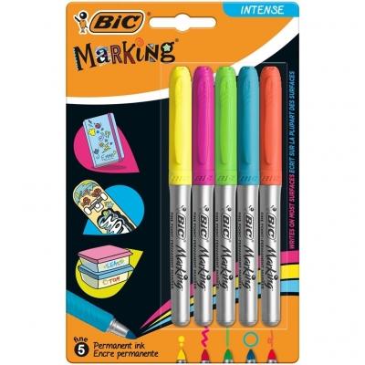 Marker Marking Intense permamentny 5 kolorów BIC