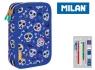Piórniki MILAN 2-poziomowy z wyposażeniem BATS & BITES niebieski