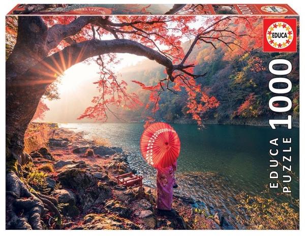 Puzzle 1000: Wschód słońca nad rzeką Katsura (18455)