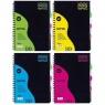 Kołozeszyt Astra A6/120k kratka - Wave (104006001) mix kolorów