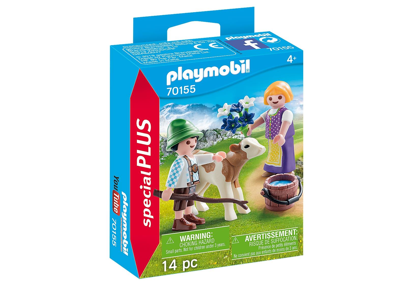 Playmobil Special Plus: Dzieci z cielaczkiem (70155)