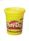PlayDoh Tuba Pojedyncza na tacce, żółta (B6756/B7412)