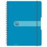Brulion na spirali A4/80k kratka niebieski transparentny (11293610)