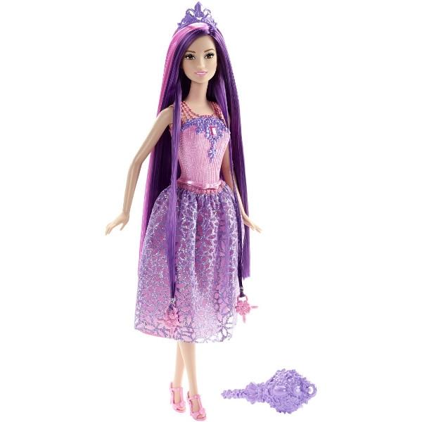 BARBIE Długowłose księżniczki fioletowa (DKB56)