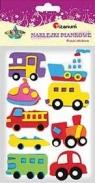Naklejki piankowe: auta, mix wzorów, kolorów i rozmiarów (EA129)