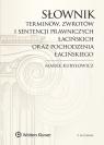 Słownik terminów zwrotów i sentencji prawniczych łacińskich oraz Kuryłowicz Marek