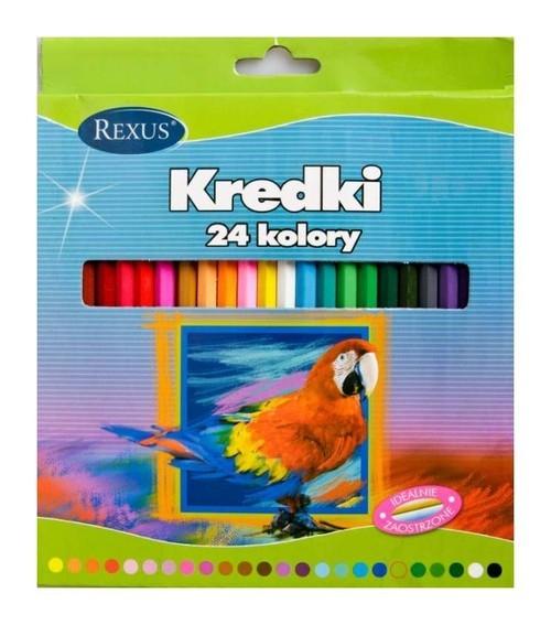 Kredki drewnianie 24 kolory