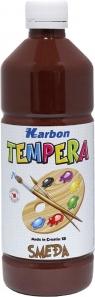 Farba tempera w butelce 1l. Brązowy , Karbon