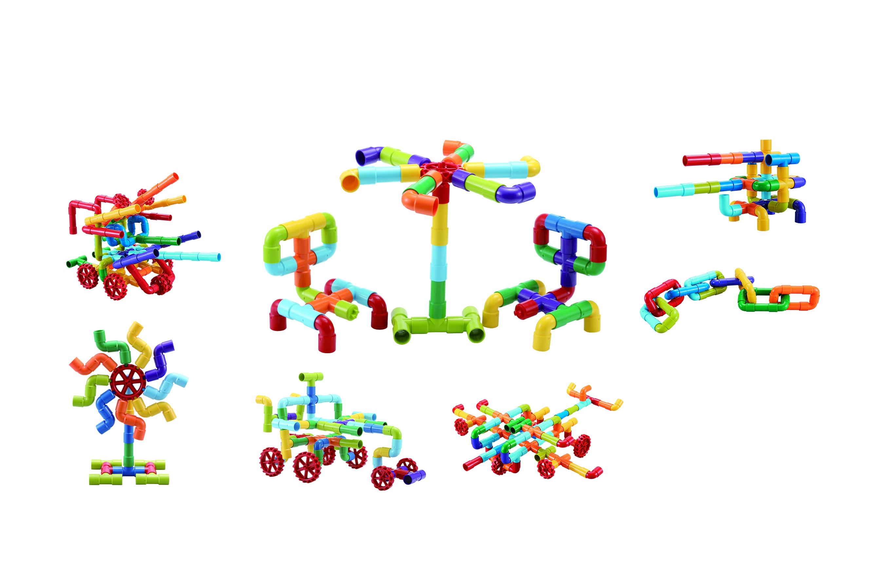 Klocki małych geniuszy - Złączki, 68 elementów (109558)