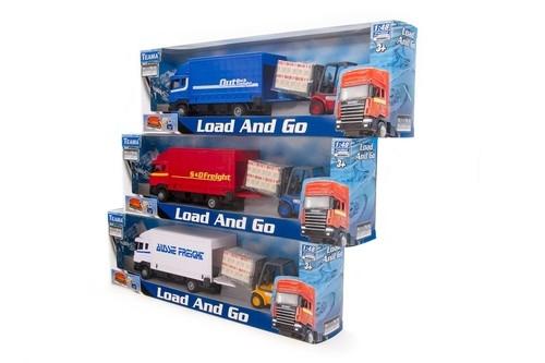 Samochód ciężarowy Scania i wózek widłowy1:48 mix (21522)
