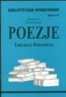 Biblioteczka Opracowań Poezje Tadeusza Różewicza