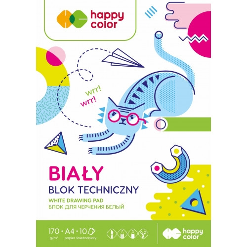 Blok techniczny Happy Color A3/10k - biały (HA 3717 3040-M0)