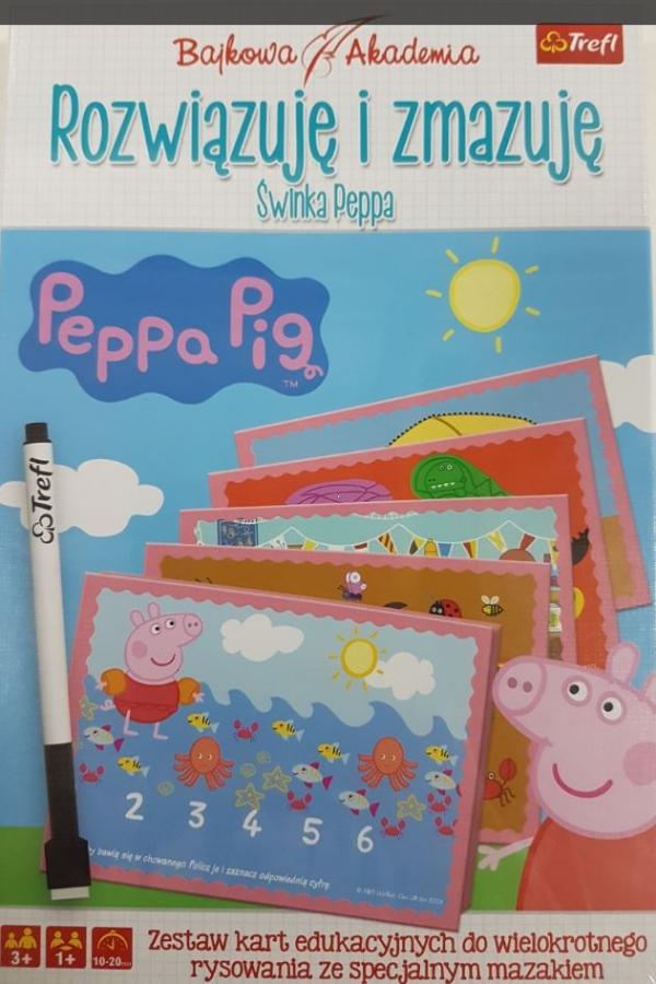Gra - Rozwiązuję i zmazuję - Peppa (Uszkodzone opakowanie) (01355)