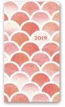 Kalendarz 2018 11T-Soft A6 kieszonkowy różowa fala