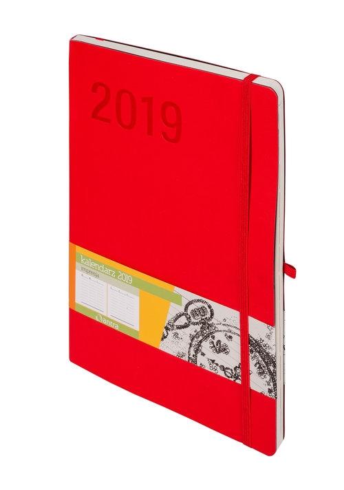 Kalendarz 2019 Impresja B5 czerwony -