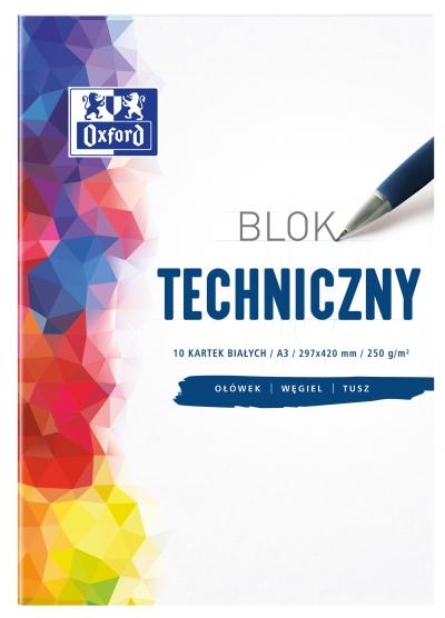 Blok techniczny Oxford A3/10k - biały (400093232)