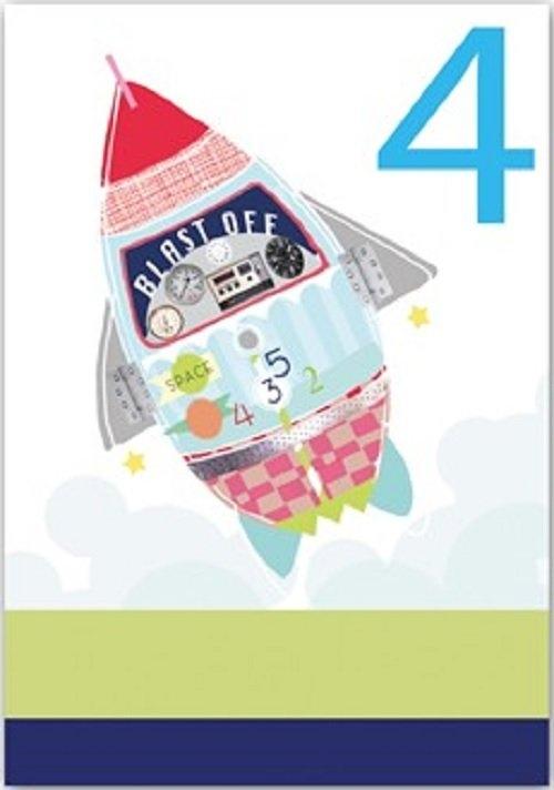 Karnet B6 z kopertą Urodziny 4 chłopiec