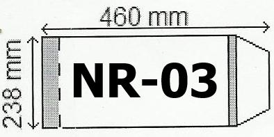 Okładka na podr B5 regulowana nr 3 (25 szt) NARNIA