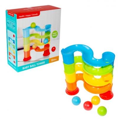 Wieża - tor z piłeczkami