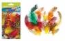 Ozdoba dekoracyjna piórka kropki kolorowe