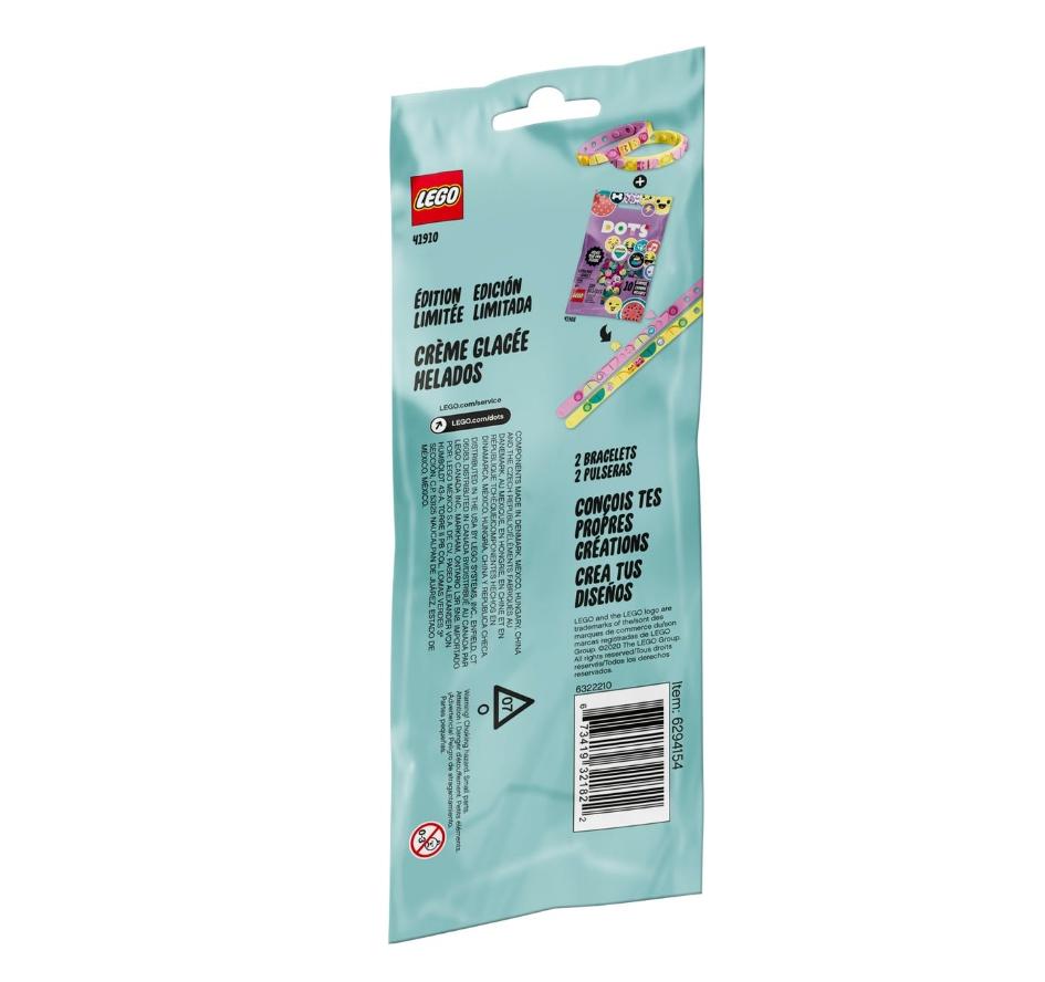 Lego DOTS: Bransoletki z lodami dla przyjaciół (41910)