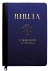 Biblia Pierwszego Kościoła granatowa ze złoceniami, z paginatorami i suwakiem