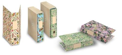 Segregator A4 Pigna Nature Flowers z pudełkiem 2 zaczepy z dźwignią mix kolorów