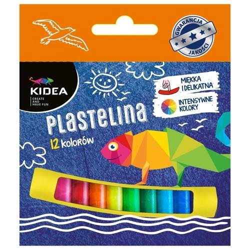 Plastelina Kidea, 12 kolorów (DRF-49561)