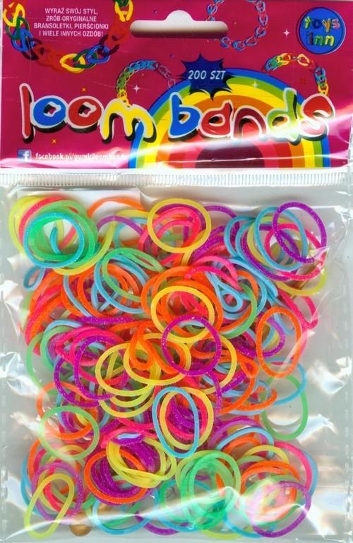 Gumki Loom Bands kolory neonowe 200 szt silikon