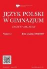 Język Polski w Gimnazjum nr 2 2018/2019