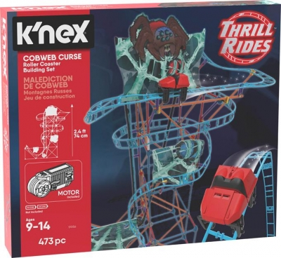 K'Nex Pajęcza klątwa kolejka górska - zestaw konstrukcyjny (51056)