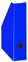 Pojemnik A4 na czasopisma/dokumenty 7cm karton niebieski