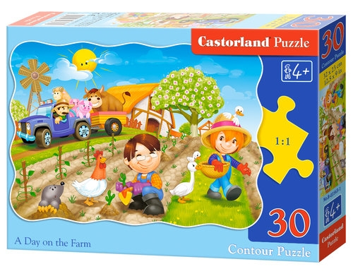 Puzzle konturowe 30: A Day on the Farm
