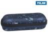 Piórnik owalny usztywniany Milan Terrazzo Blue Eco granatowy (081145TZB)