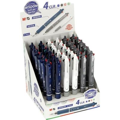 Długopis ABP803R4  M&G 4-kolorowy 0,7 mm