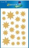 Dekoracje okien małe gwiazdy świąteczne złote