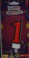 Świeczka urodzinowa - 1 (PTN1-1)