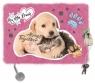 Pamiętnik z kłódką włochacz Cat & Dog A5, 96 kartek, linia